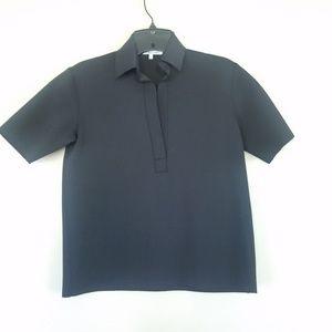 Helmut lang black scuba polo shirt sz xs
